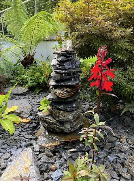 600mm Slate Pyramid Water Feature | Welsh Slate Water Features 01