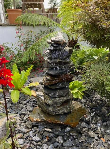 600mm Slate Pyramid Water Feature | Welsh Slate Water Features 03 2