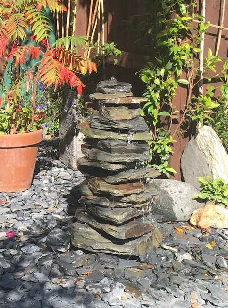 600mm Slate Stack Pyramid | Welsh Slate Water Features