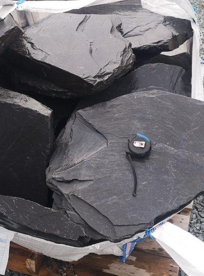 Black slate rockery