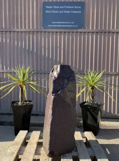 Drilled Slate Monolith Water Feature