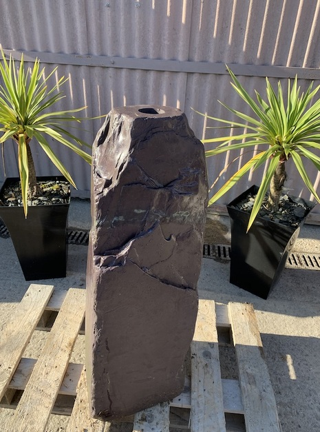Drilled Slate Monolith Water Feature 3