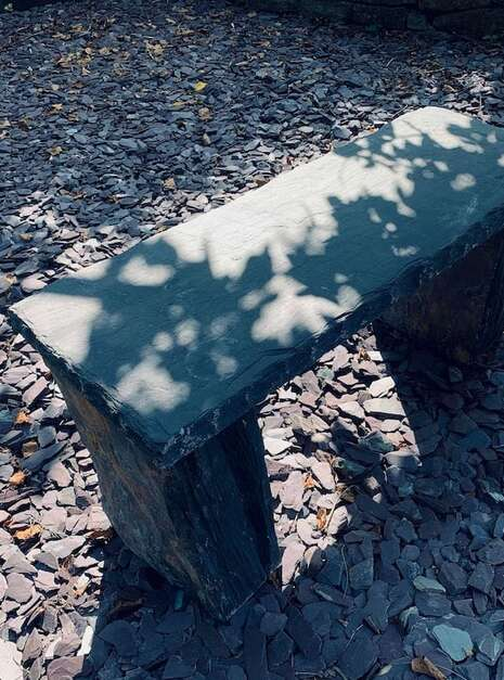 Welsh Slate Bench Customer 02 | Welsh Slate Water Features