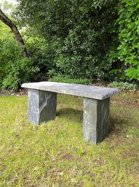 outdoor bench crafted from three slabs of real Welsh Slate