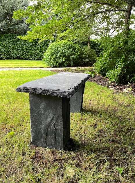 Welsh Slate Bench Customer 04 | Welsh Slate Water Features