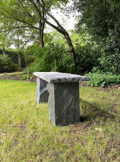 welsh slate outdoor bench