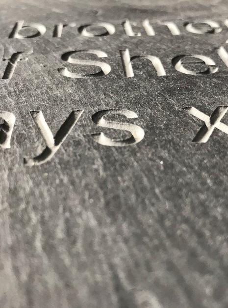 custom engraved slate bench