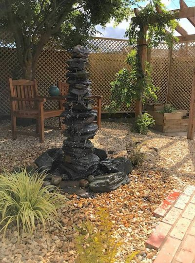 1200mm Slate Stack Pyramid | Welsh Slate Water Features