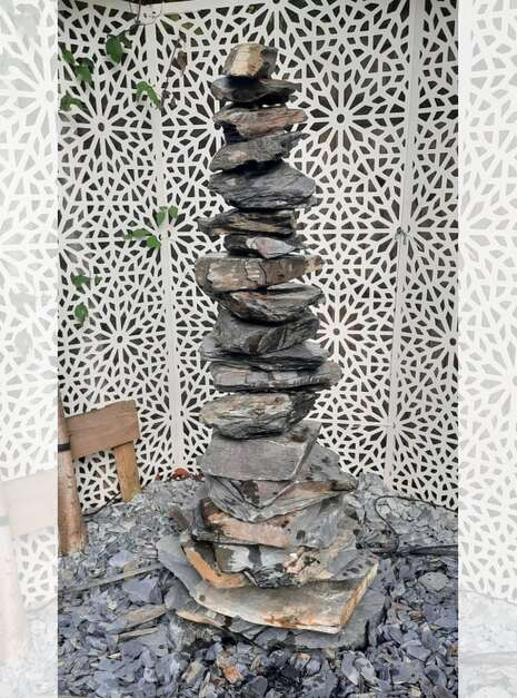 1500mm Slate Stack Pyramid   Welsh Slate Water Features