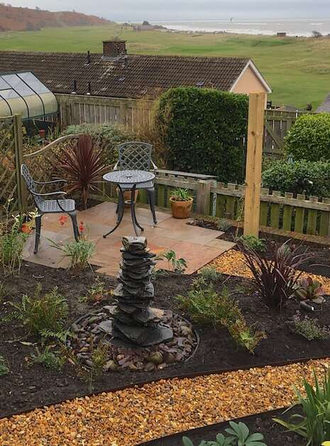 750mm Slate Pyramid Water Feature Coastal Garden | Welsh Slate Water Features