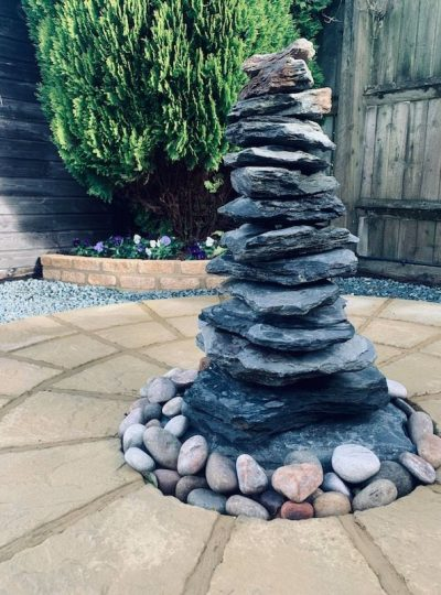 750mm Slate Pyramid Water Feature | Welsh Slate Water Features