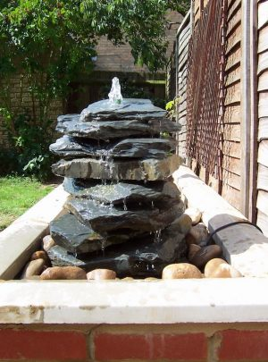 750mm Slate Pyramid Water Feature