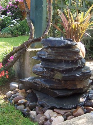 600mm Slate Pyramid Water Feature