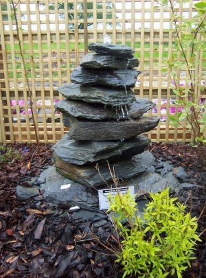 1050mm Slate Pyramid Water Feature