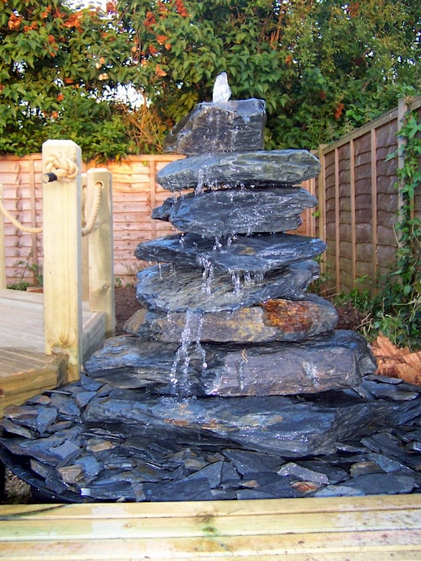 Slate Pyramid Water Feature Example 07
