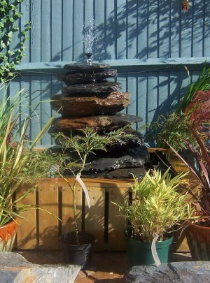 900mm Slate Pyramid Water Feature