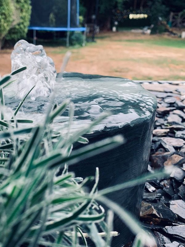 Slate Monolith SM22 Close Up Water Feature