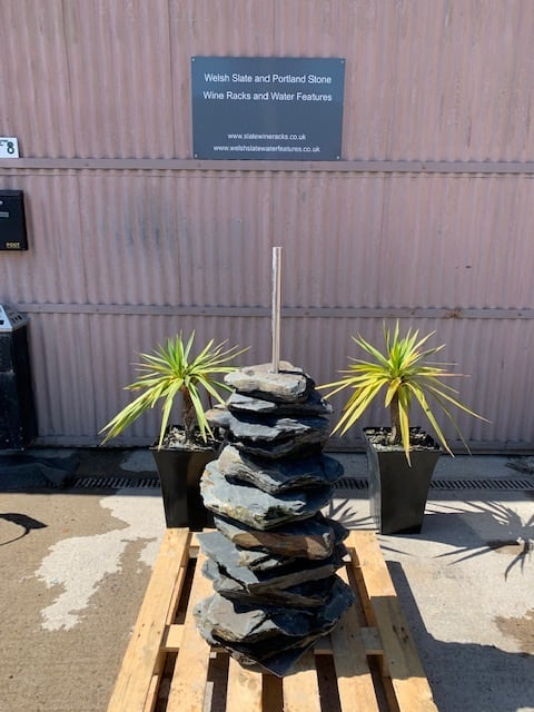 Stone Pyramid 03 | Welsh Slate Water Features