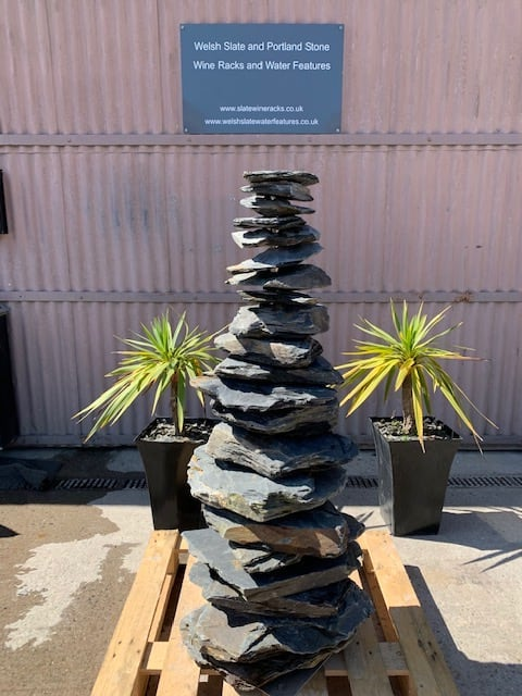Stone Pyramid 06 | Welsh Slate Water Features