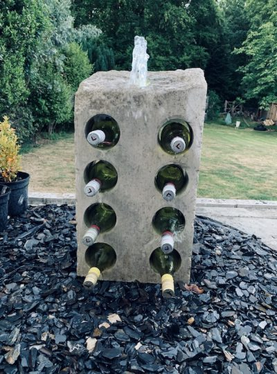 Water Feature Wine Rack WFWR4