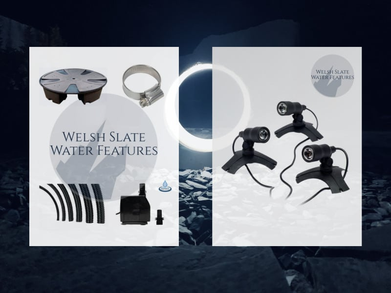 Accessories for Welsh Slate Water Features