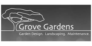 Grove Gardens Logo B+W | Welsh Slate Water Features