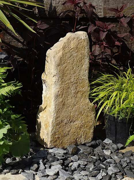 Purbeck Stone Monolith SM57 | Welsh Slate Water Features 02