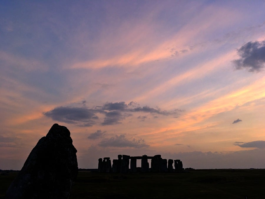 Stonehenge August Sunset | Welsh Slate Water Features