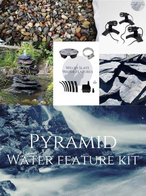 Pyramid Water Feature Kit | Welsh Slate Water Features
