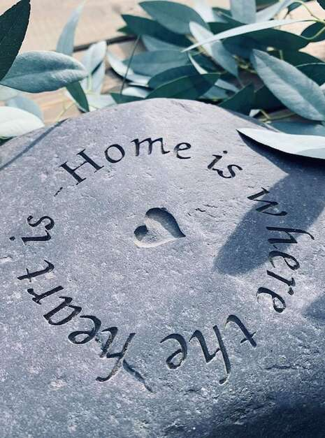 Engraved Slate Paddlestones | Welsh Slate Water Features