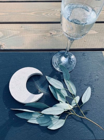 Moon Coasters made from Portland Stone | Welsh Slate Water Features