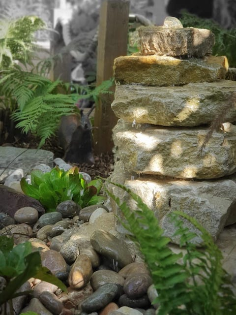 Purbeck Stack Case Study | Welsh Slate Water Features 02