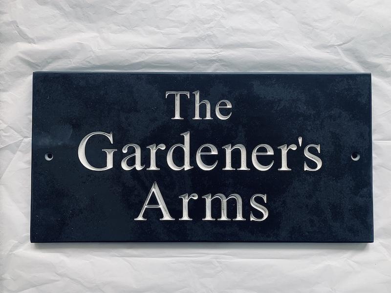 Slate House Sign The Gardener's Arms 1