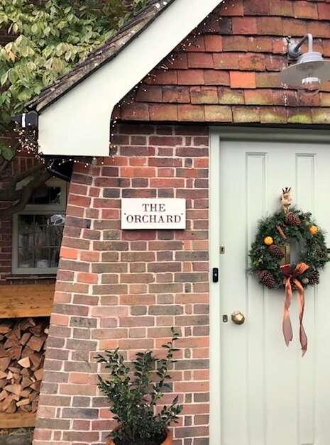 The Orchard Slate House Sign | Welsh Slate Water Features