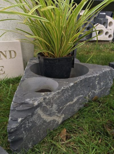 Slate Planter Double Core | Welsh Slate Water Features