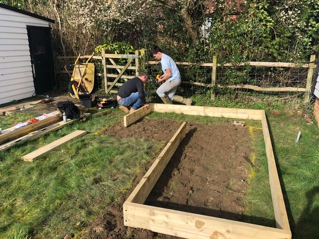 How To Make Raised Vegetable Beds | Welsh Slate Water Features 08