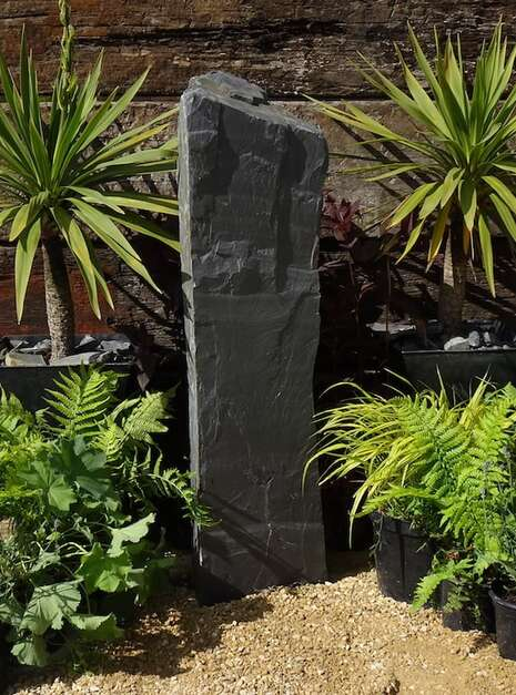 Slate Monolith SM90 Standing Stone | Welsh Slate Water Features 02