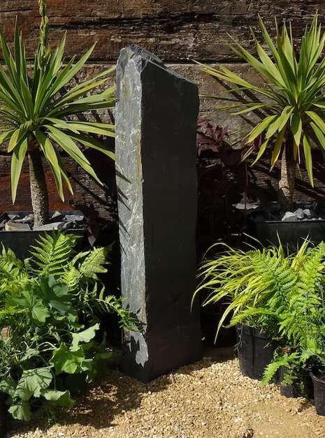 Slate Monolith SM90 Standing Stone | Welsh Slate Water Features 03
