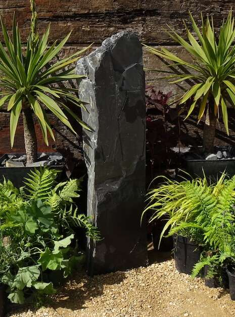Slate Monolith SM90 Standing Stone | Welsh Slate Water Features 05