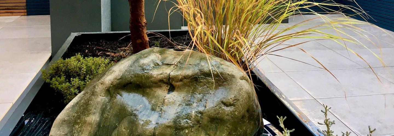 Modern Boulder Case Study | Welsh Slate Water Features