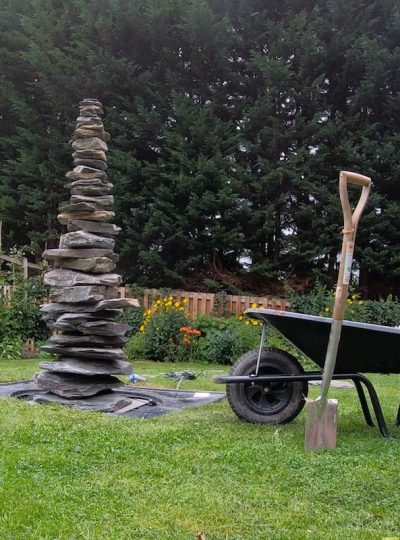 1828mm Slate Pyramid Water Feature