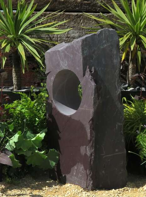 Garden Window Stone WS16   Welsh Slate Water Features 01