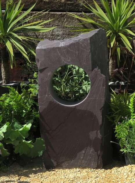 Garden Window Stone WS16   Welsh Slate Water Features 02