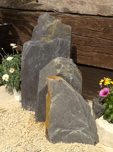 Triad of Stones TS03 01 | Welsh Slate Water Features
