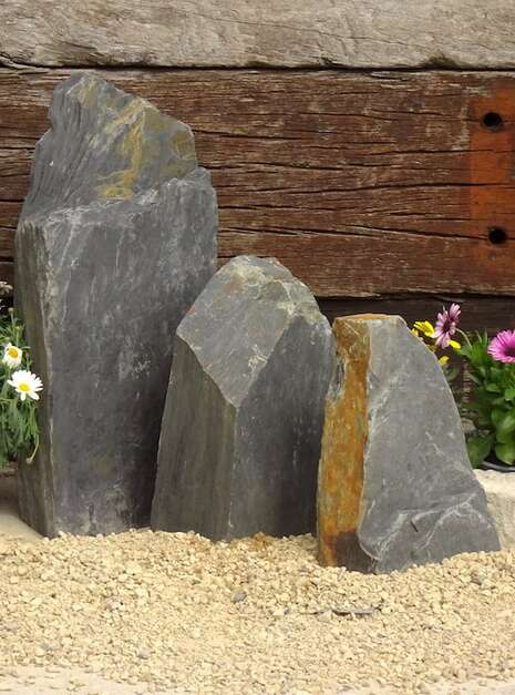 Triad of Stones TS03 02 | Welsh Slate Water Features