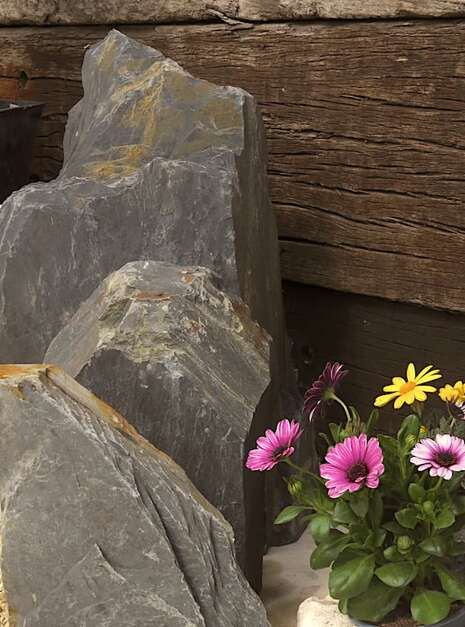 Triad of Stones TS03 04 | Welsh Slate Water Features