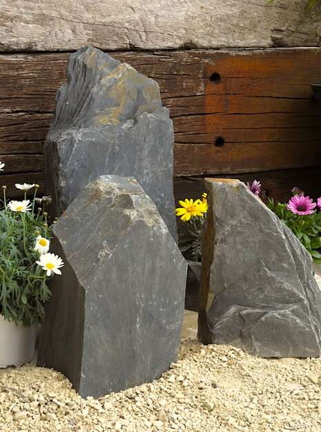 Triad of Stones TS03 06 | Welsh Slate Water Features