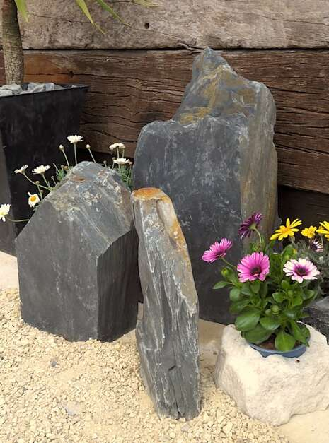 Triad of Stones TS03 07 | Welsh Slate Water Features