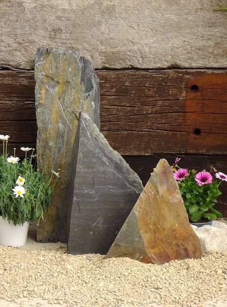 Triad of Stones TS04 01 | Welsh Slate Water Features