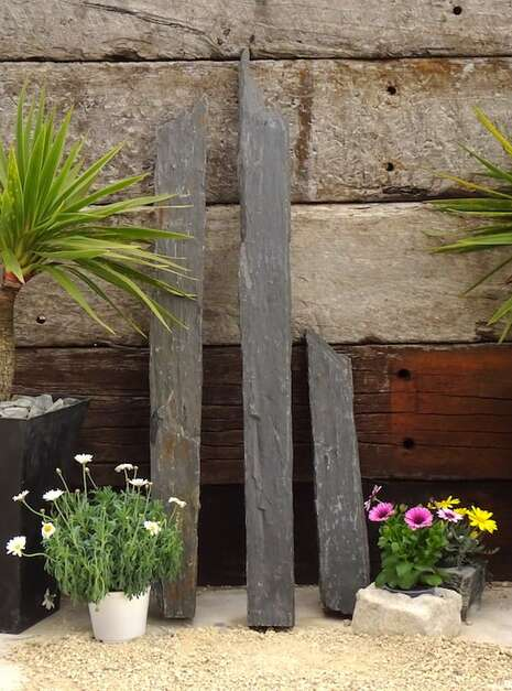 Triad of Stones TS05 01 | Welsh Slate Water Features